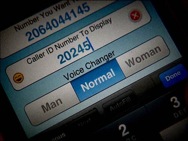 caller id spoofing phone numbers